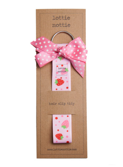 Pink Strawberry Hair Clip Tidy