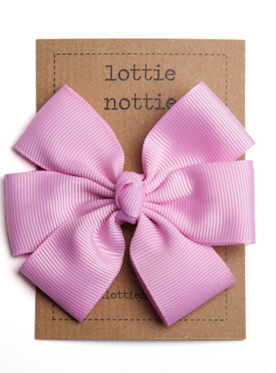 Dusty Rose Pink Big Hair Bow Clip
