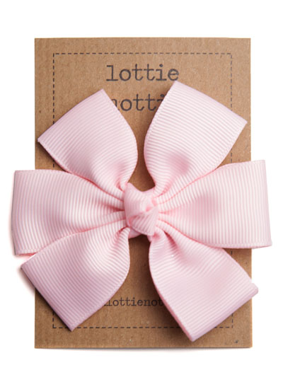 Pale Pink Big Hair Bow Clip
