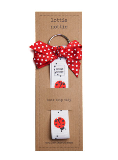 Ladybird Hair Clip Tidy with Red Spotty Bow
