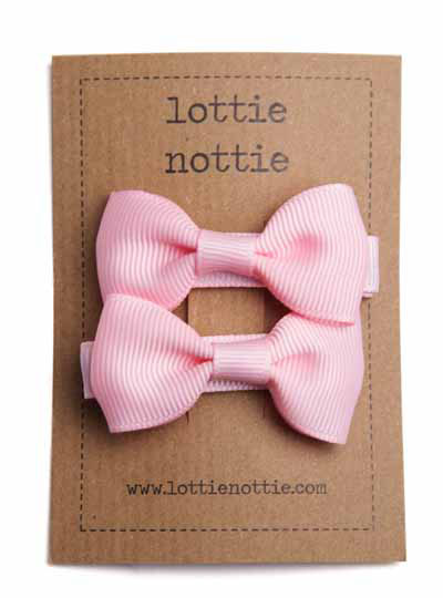 Light Pink Small Bow Hair Clips