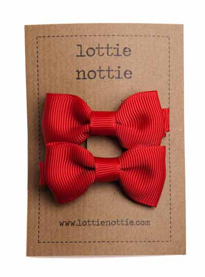 Red Small Bow Hair Clip