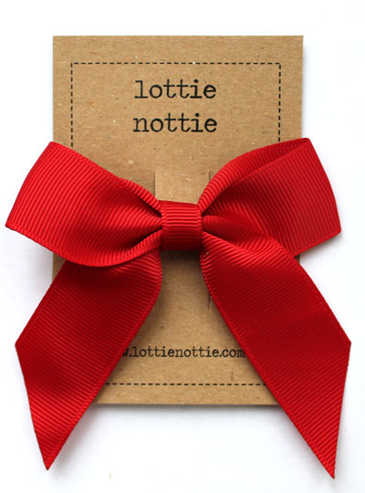 Red Classic Hair Bow