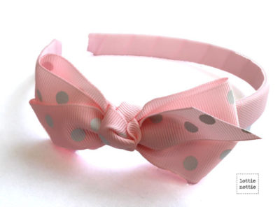 Alice Band Polka Light Pink