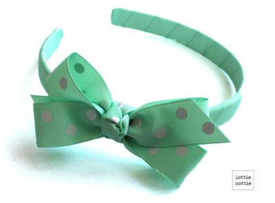 Alice Band Polka Dot Mint Green