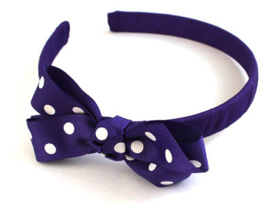 Alice Band Polka Purple