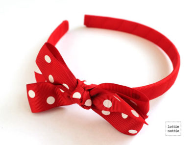 Alice Band Polka Dot Red