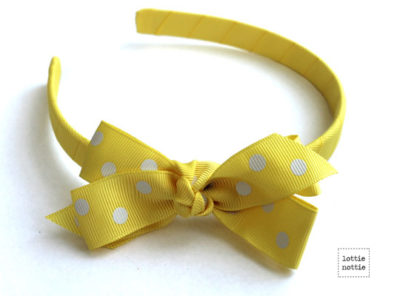 Alice Band Polka Dot Yellow