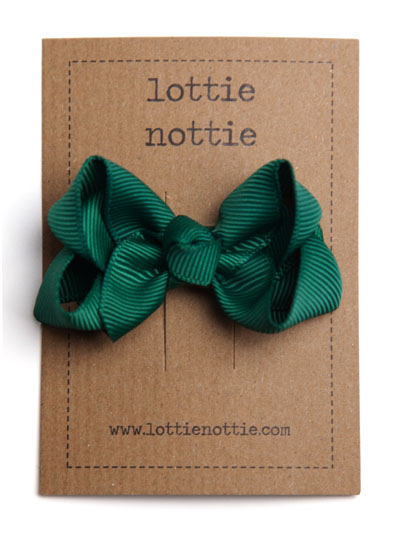 Dark Green Twist Bow Hair Clip