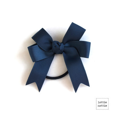 Double Bow Hair Band Navy SQUARE