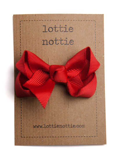 Red Twist Bow Hair Clip