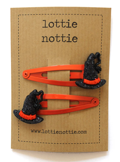 Witches Hats on Orange Clips