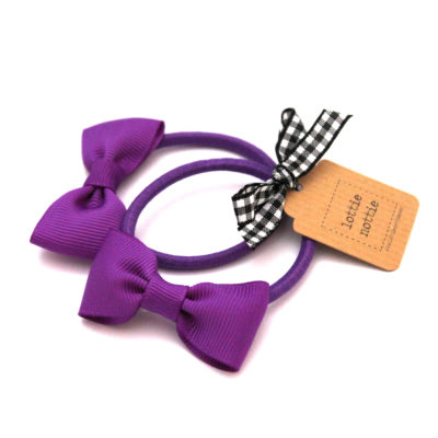 Purple Bow Hair Bands